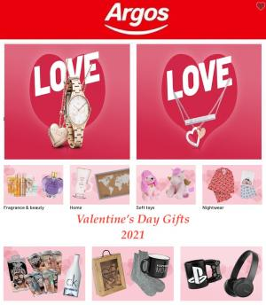 argos catalogue valentines day gifts 2021