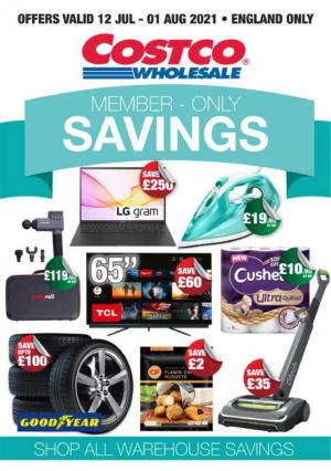 costco offers member only savings 12 jul 1 aug 2021