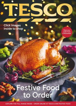 tesco offers festive food to order 13 november 2020