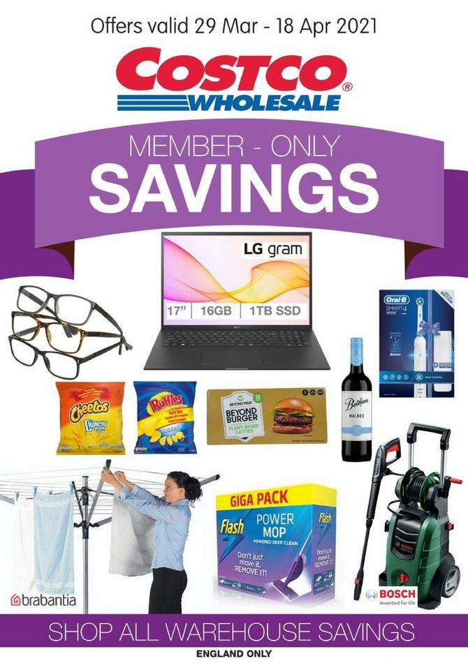 costco offers member only savings 30 mar 18 apr 2021