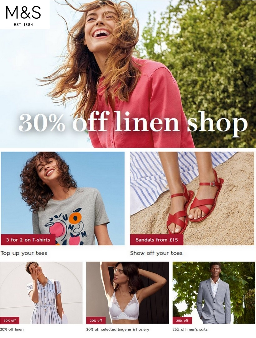marks and spencer sale 14 july 2020
