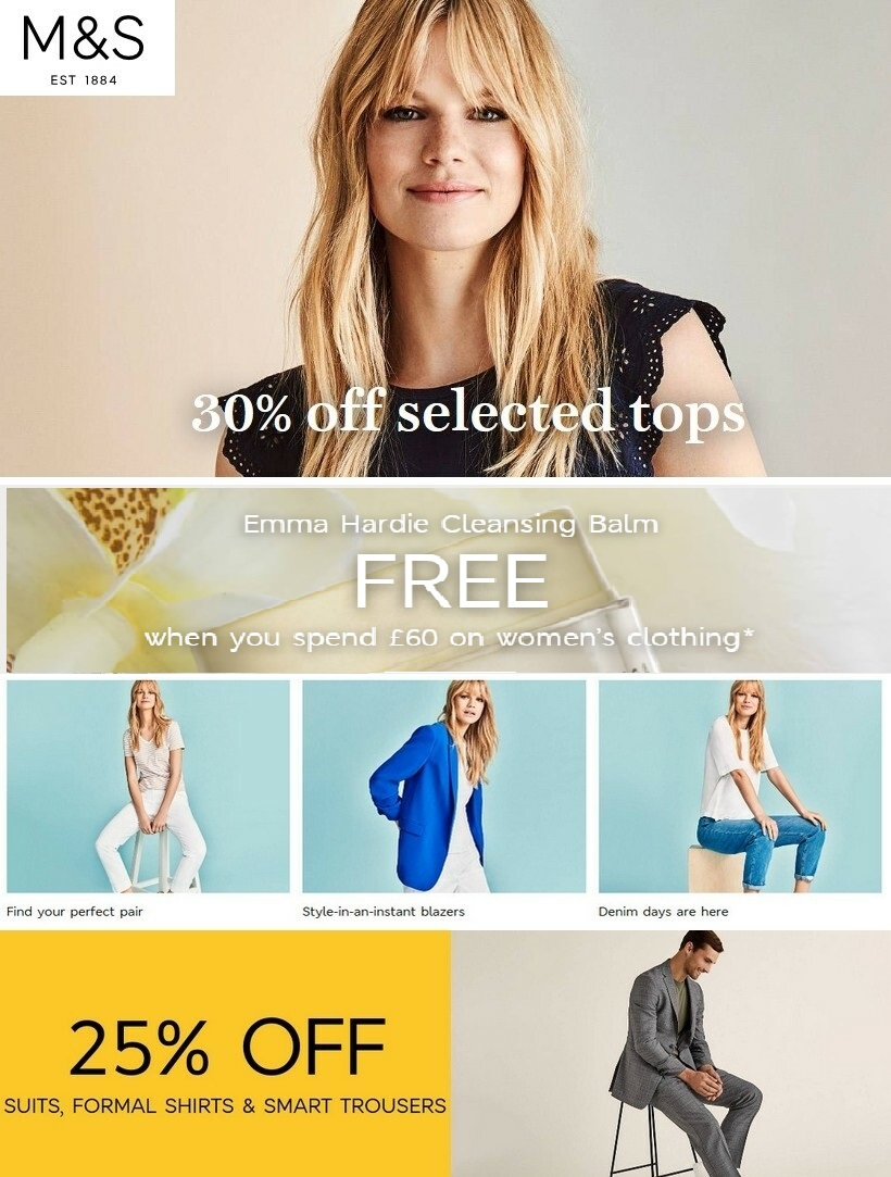 marks and spencer sale 25 august 2020