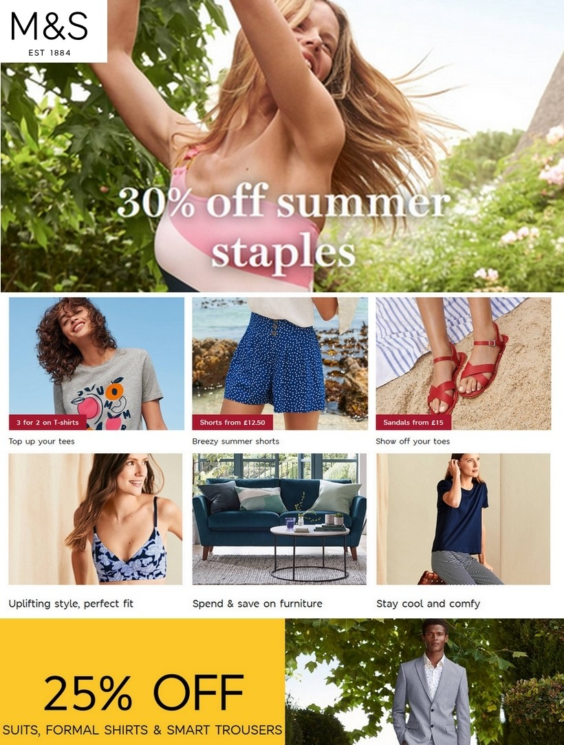marks and spencer sale 8 july 2020