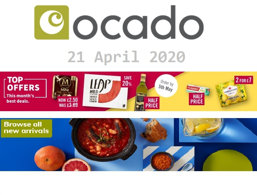 ocado offers 21 april 2020