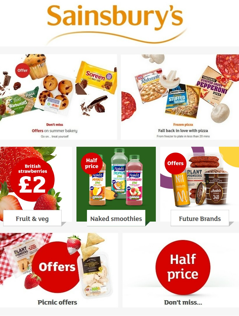 sainsburys offers 2 august 2020